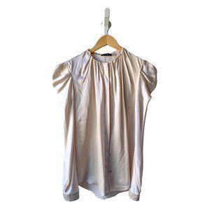 Vionnet Puff-Sleeve Silk Blouse